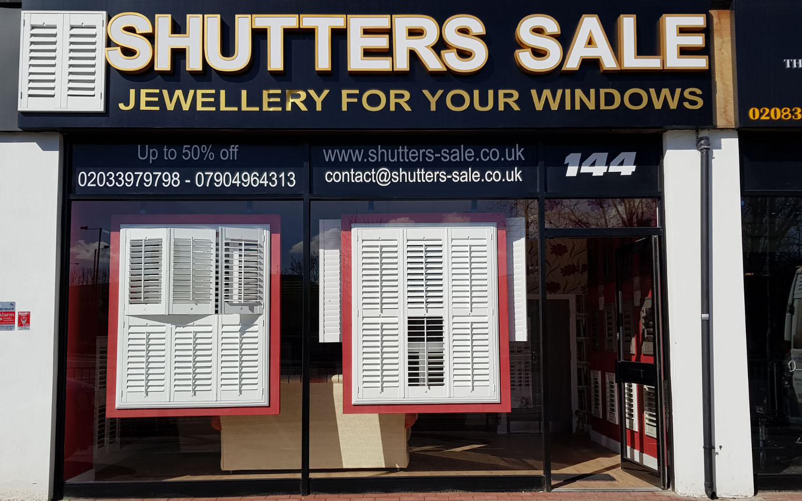 Window Shutters Showroom Tolworth KT6 7JD